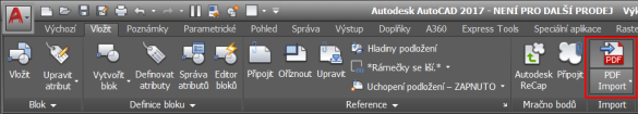 AutoCAD Import PDF
