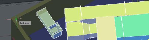 AutoCAD Úchopy na koordinačním modelu