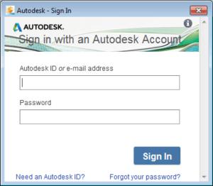 AutoCAD-prihlaseni