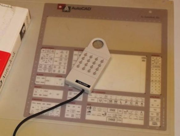 AutoCAD tablet mouse