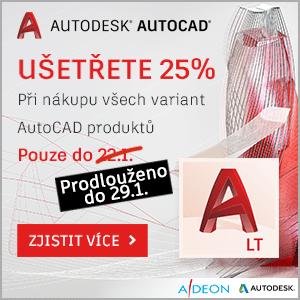 Sleva 25% na AutoCAD programy