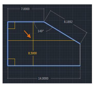 AutoCAD 2020 ukázka rychlého měření