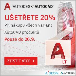 Sleva 20% na AutoCAD programy