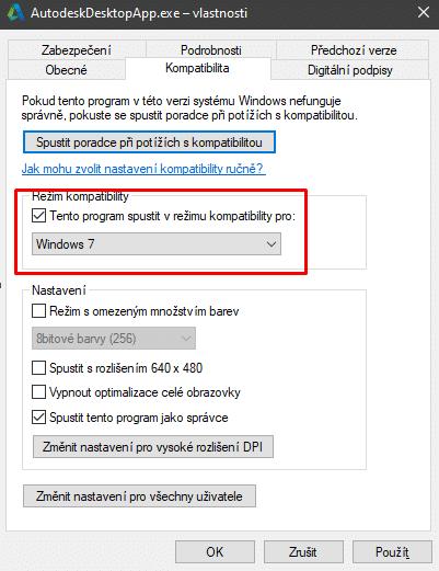 AutoCAD moznost kompatibility
