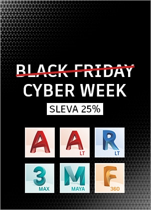 Black Friday: Sleva 25% na AutoCAD programy